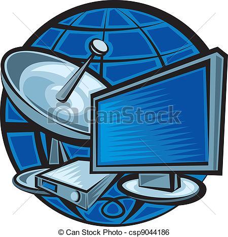 Satellite Receiver Clip Art.