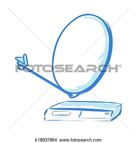 Clipart of Satellite receiver k18937864.
