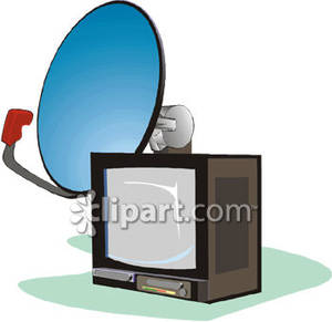 Satellite TV Clip Art.