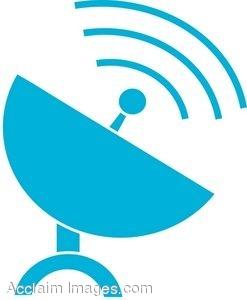Clip Art of a Satellite Dish Icon.