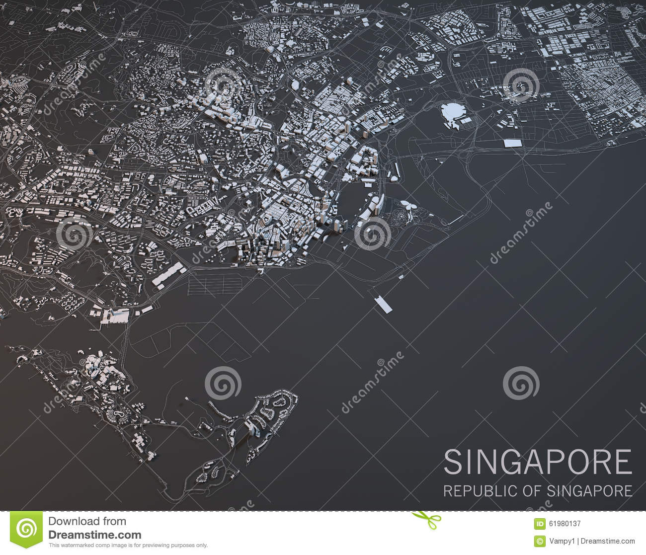 Aerial View City Suburbs Stock Illustrations.