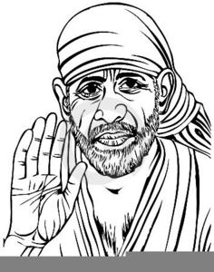 Sathya Sai Baba Clipart.