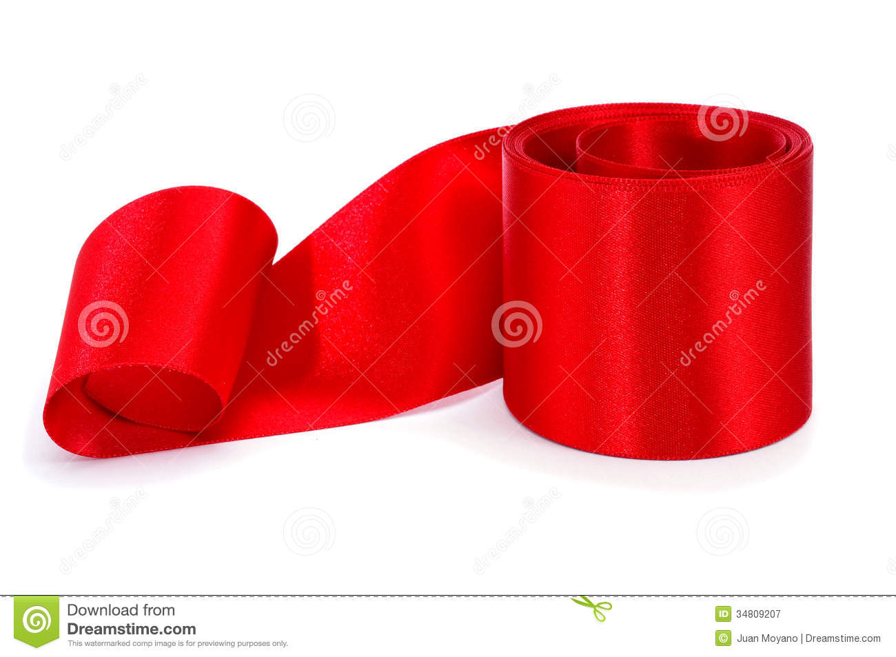 Red Satin Ribbon Royalty Free Stock Photography.