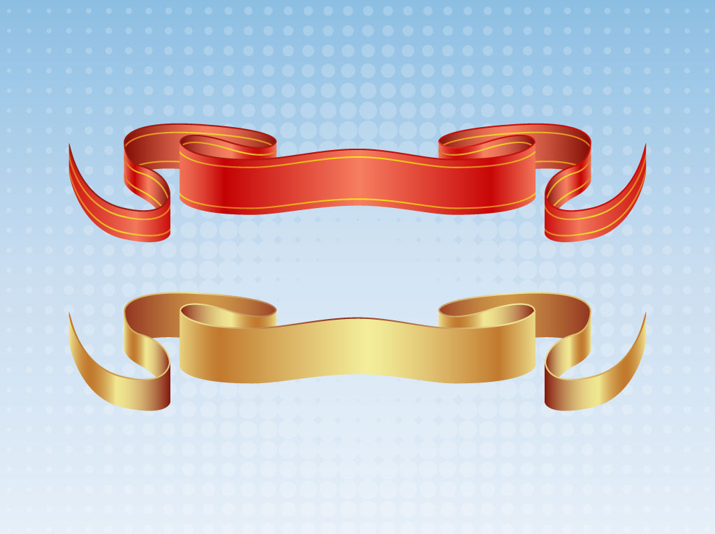Satin Ribbon Vectors Vector Art & Graphics.