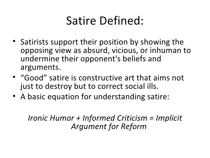 What is satire.