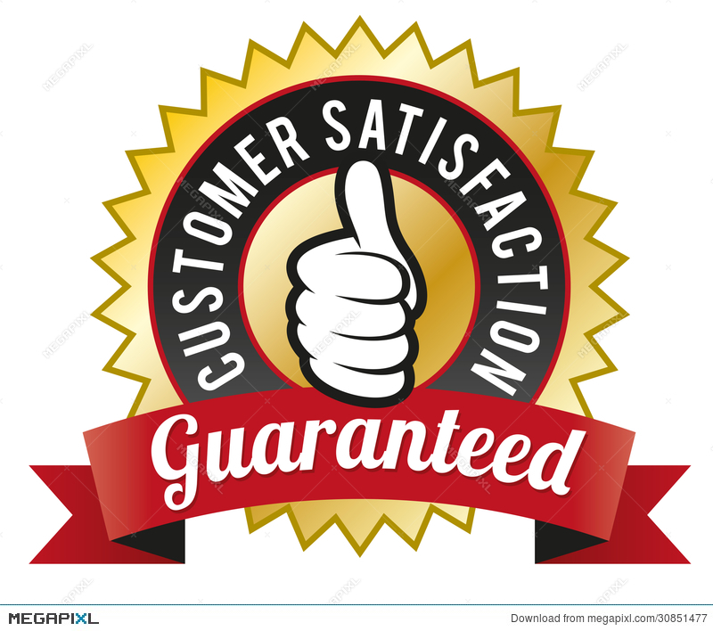 Customer Satisfaction Guaranteed Illustration 30851477.