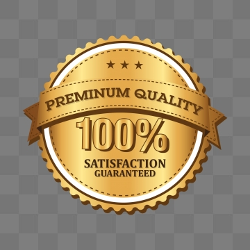 Satisfaction 100 Percent Guarantee Png, Vector, PSD, and.