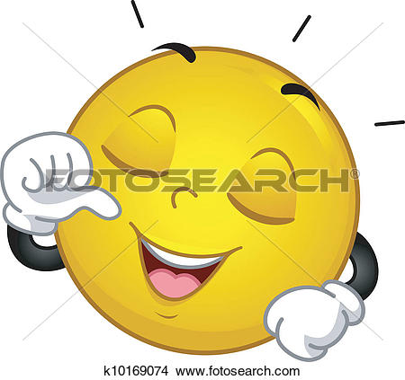 Clipart of Satisfied Smiley k10169083.
