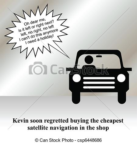 Clip Art Vector of sat nav.