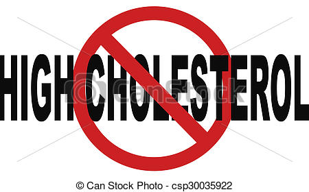 Clip Art of high cholesterol low fat diet lower saturated fats to.