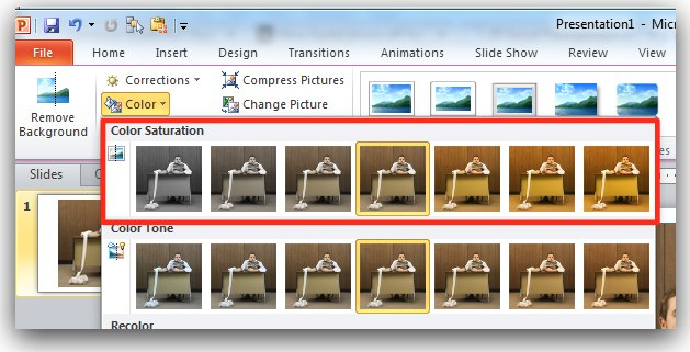 The Logical Blog by IconLogic: PowerPoint 2010: Adjusting the.