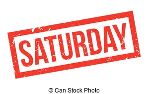 Saturday rubber stamp Vector Clipart Royalty Free. 147.