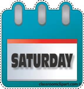 Saturday Calendar Clipart.