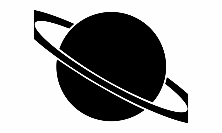 Planets Clipart Saturn Black And White Saturn Clipart.