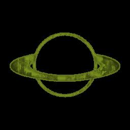 Green saturn clipart.