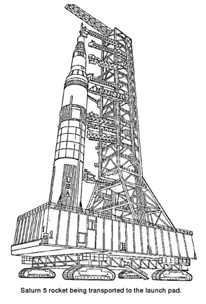 Saturn V transported.