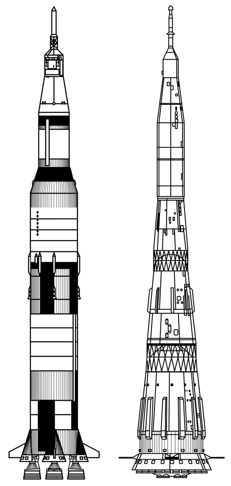 Saturn V Rocket Clipart.
