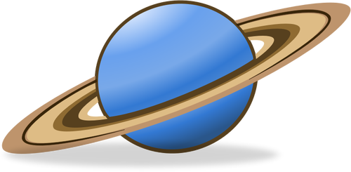 Vector clip art of planet Saturn icon.
