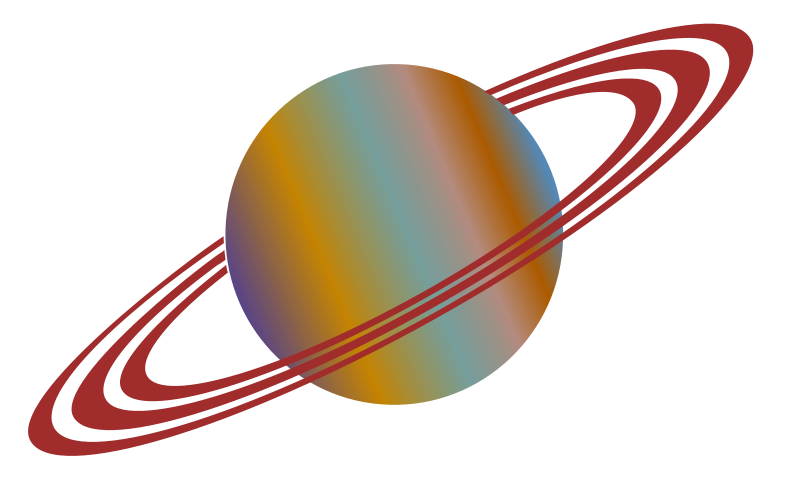Rings Of Saturn Clipart.