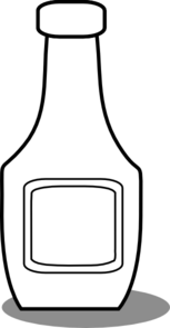Ketchup Bottle Black And White Clip Art at Clker.com.