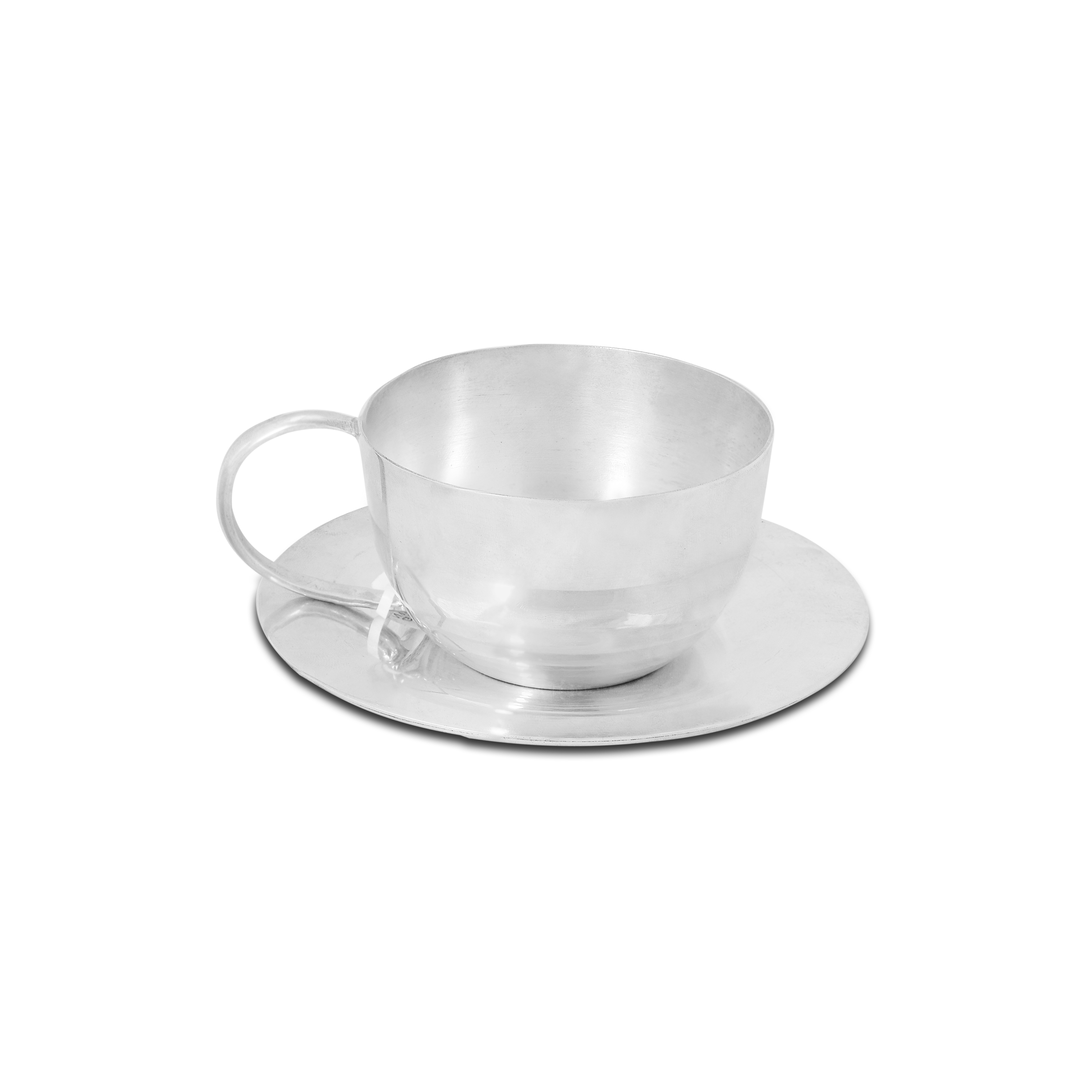 Pristine Silver Cup and Saucer Set by PNG Jewellers.