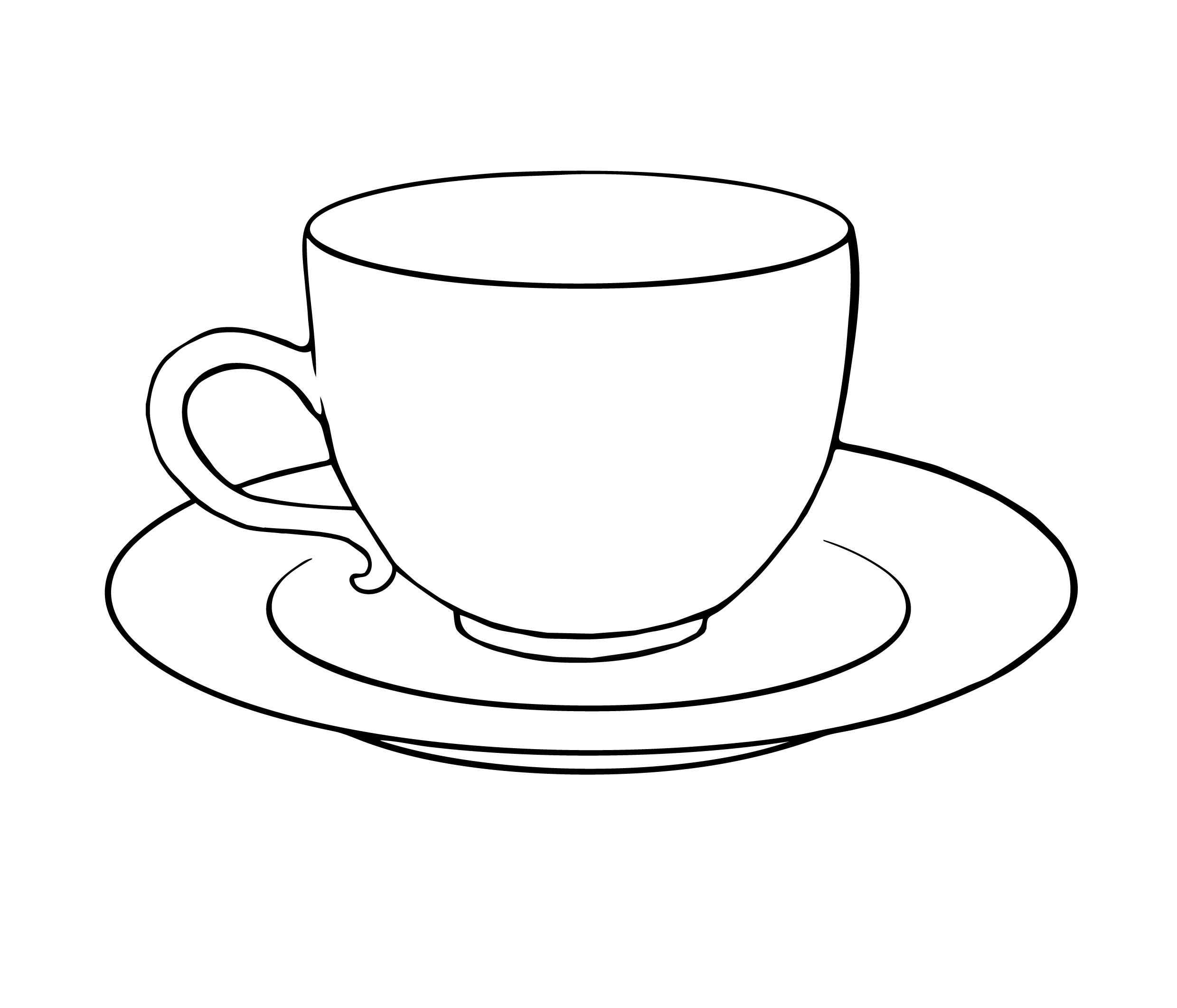 Tea Cups And Saucers Clipart.