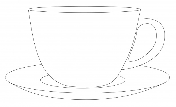 Cups and saucers clipart.