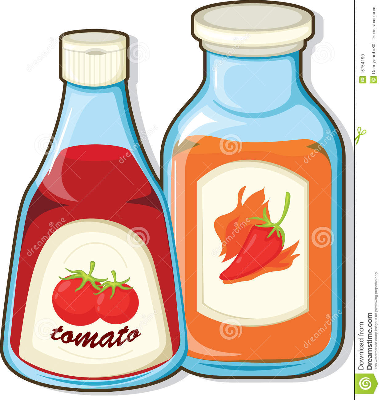 Gallery For > Sauce Bottle Clipart.