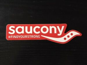 Details about Saucony Running FIND YOUR STRONG Sticker Decal w/ Logo.