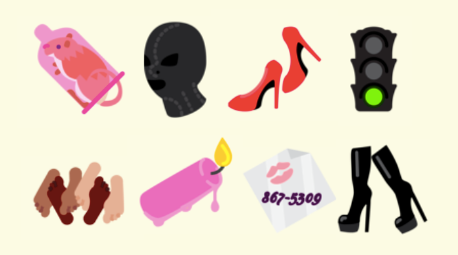 Saucy emoji: how to add sexy clipart to your texts and messages.