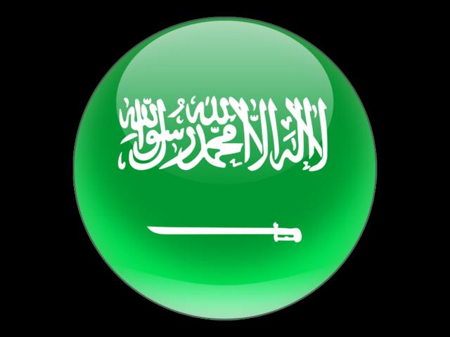 Round icon. Illustration of flag of Saudi Arabia.