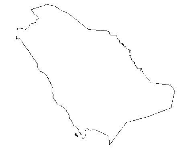 Saudi Blank Map.