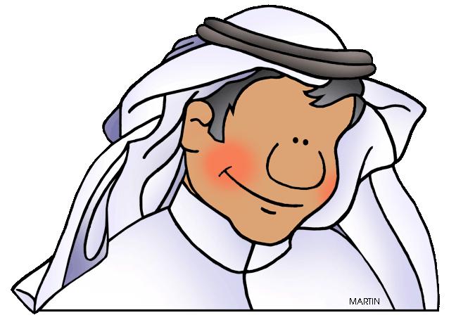 Saudi man clipart.
