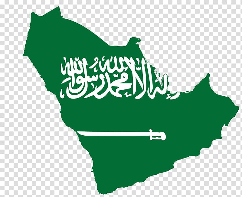 Flag of Saudi Arabia Map , archaeologist transparent.