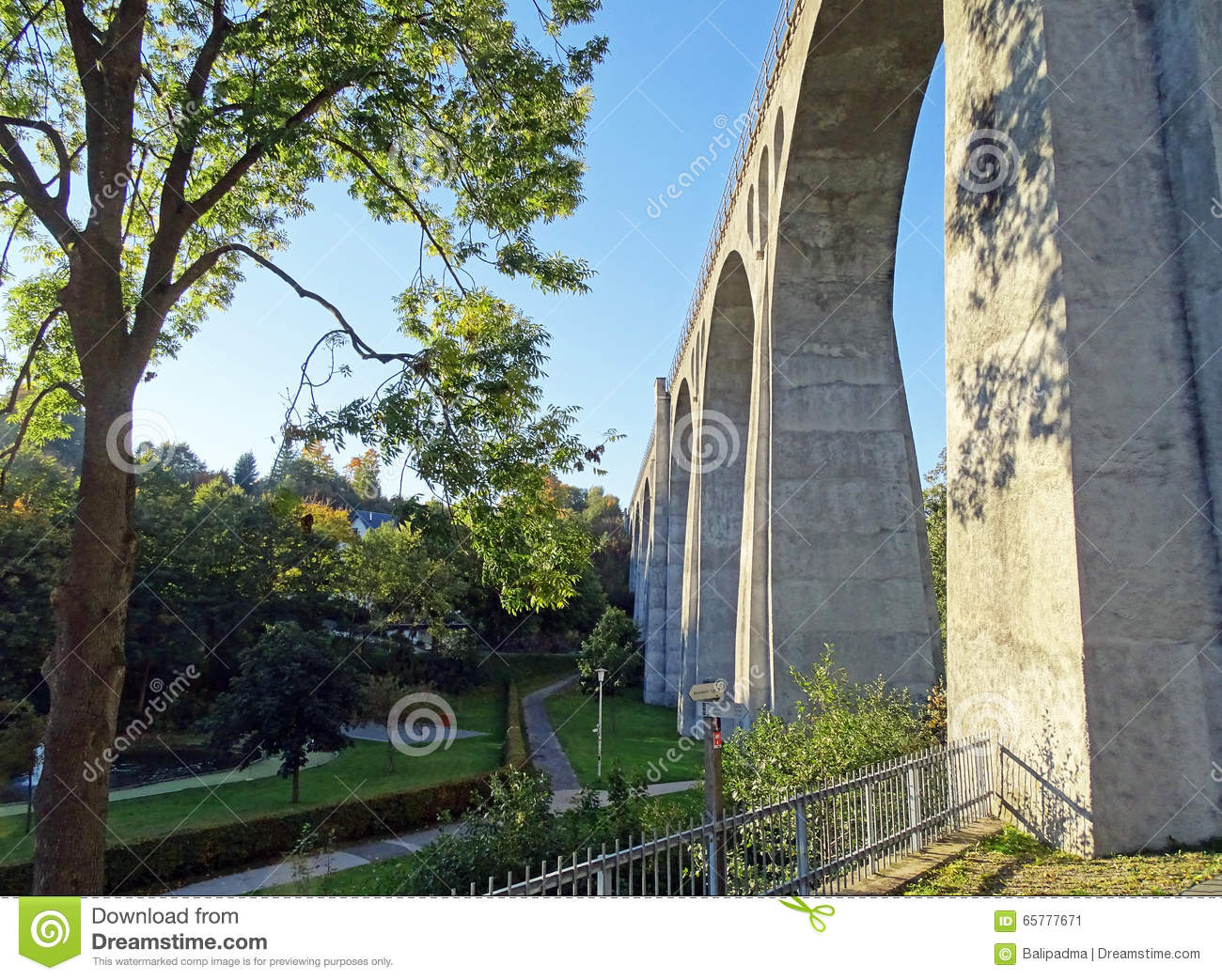 Willingen Viaduct (Sauerland / Germany) Stock Photo.