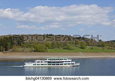 Stock Photograph of Ferry, Biggetalsperre, Sondern, Sauerland.
