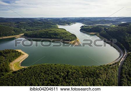 Stock Photography of Gilberginsel island in Bigge lake.