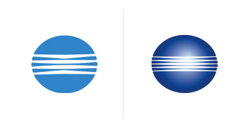 Saul Bass logos: then and now.