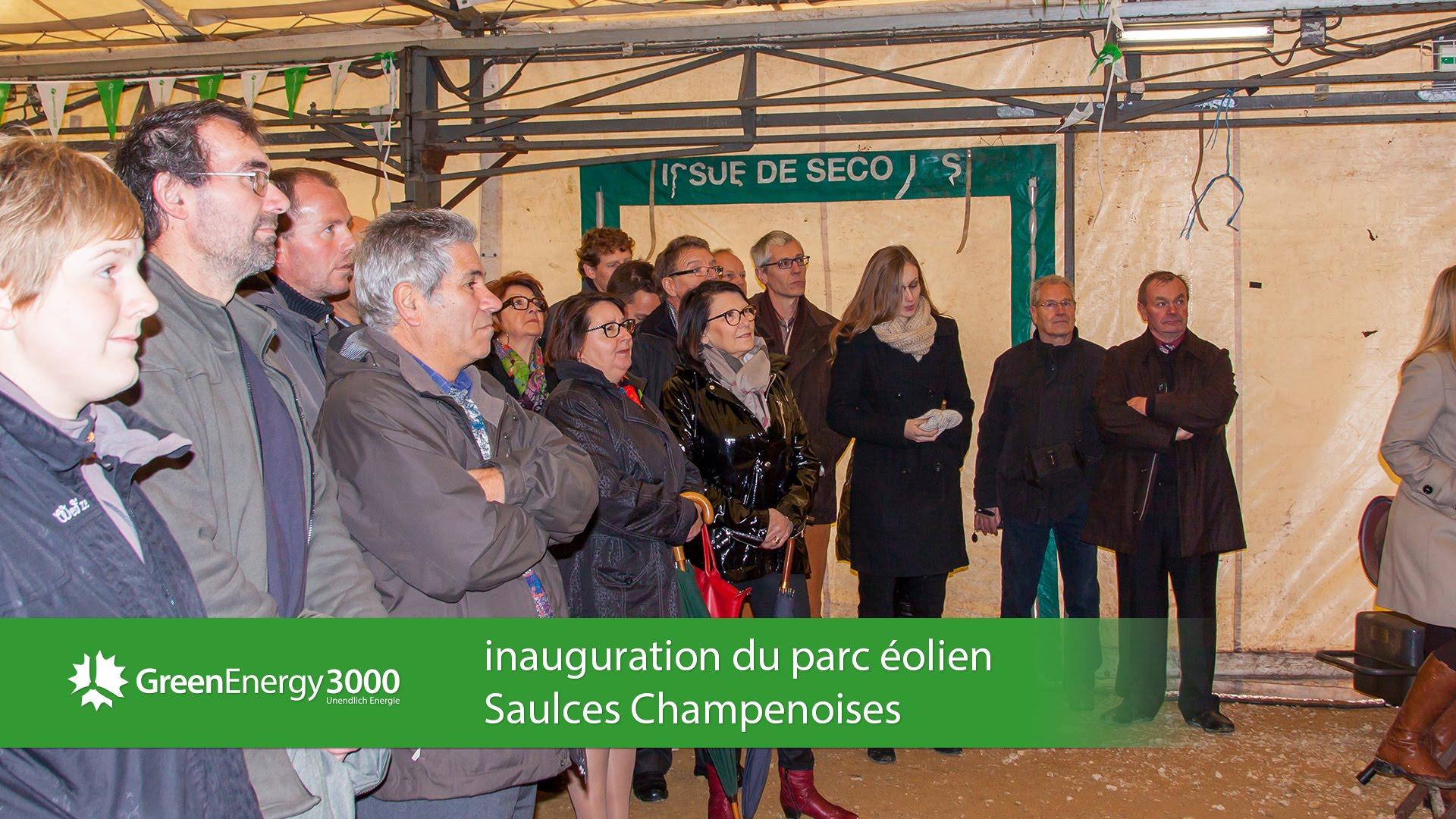 Inauguration du parc éolien Saulces Champenoises.