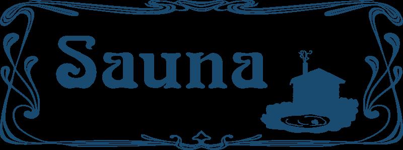 Free Clipart: Sauna Sign.