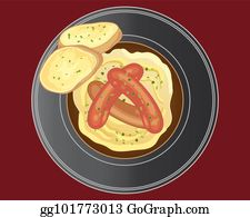 Bangers And Mash Clip Art.