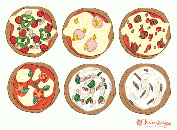 Design your own pizza clipart, commercial use, pizza vector.