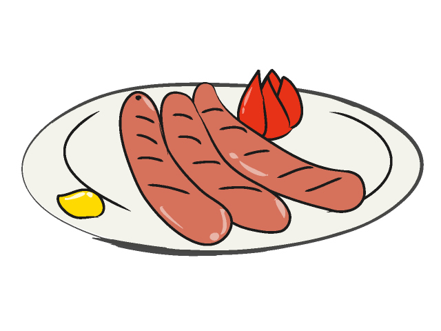 Sausage Clipart.