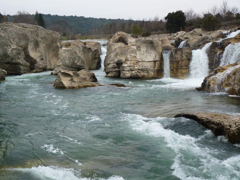 les cascades du sautadet dans le Gard.