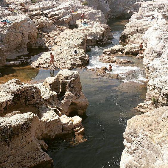 Les cascades du sautadet de la roque sur ceze dans le Gard.