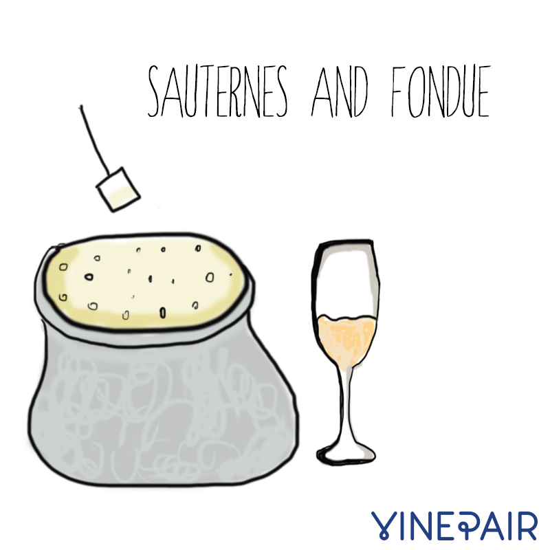 An Illustrated Guide To Pairing Wine And Cheese.