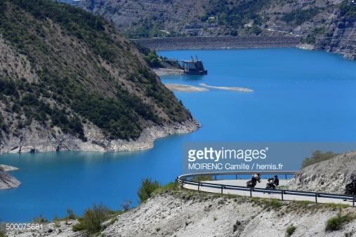France Hautes Alpes Le Sauze Du Lac Serre Poncon Stock Photo.