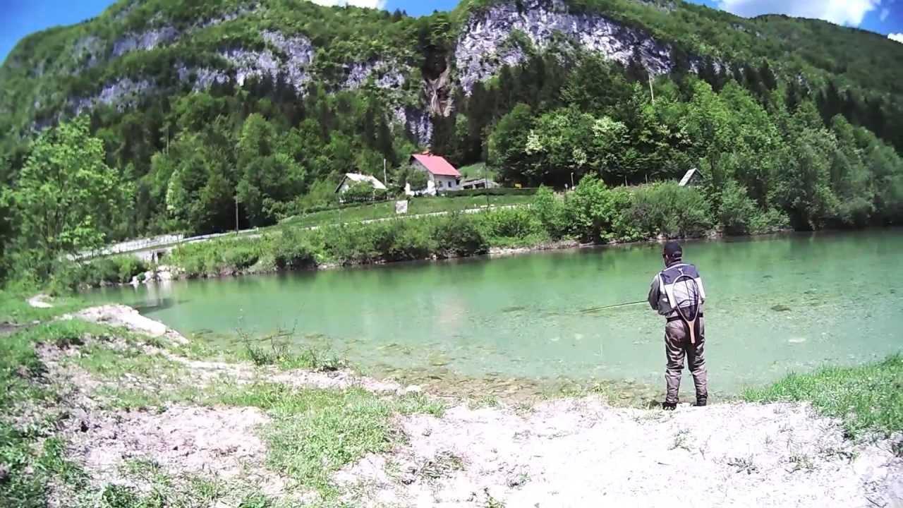 Fliegenfischen Slowenien.