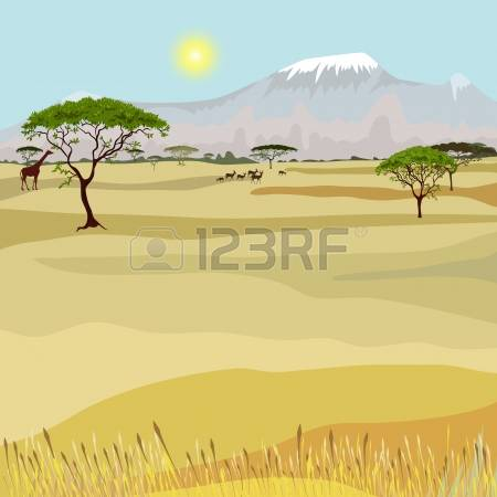 6,150 African Savanna Stock Vector Illustration And Royalty Free.