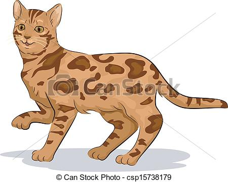 Bengal Cats And Kittens Clipart.